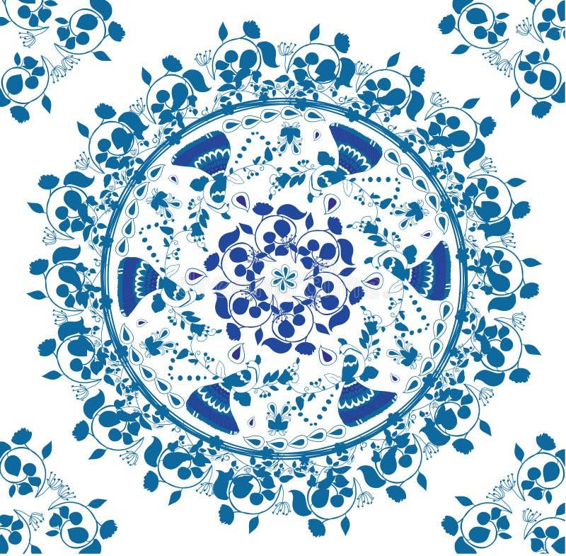 Desenhos bonitos com teste padrão geométrico ilustração stock