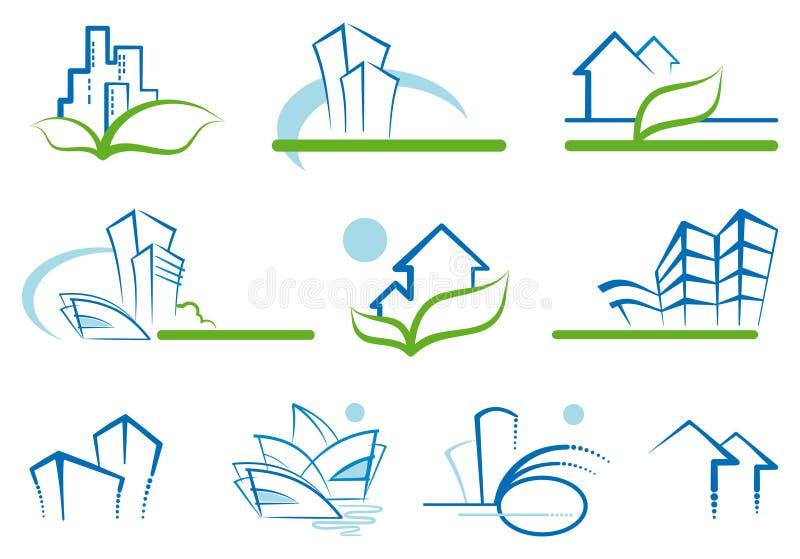 Desenhos da casa ilustração royalty free