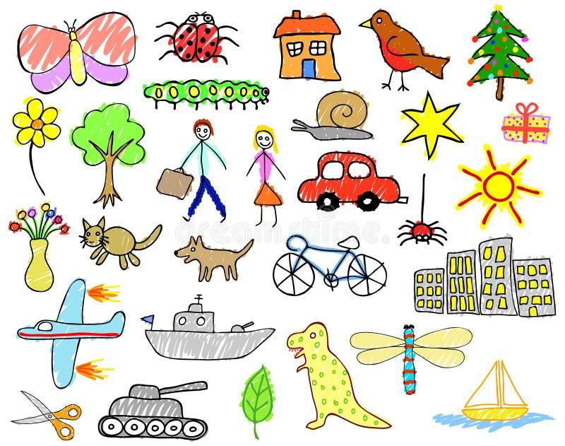 Desenhos da criança ilustração stock