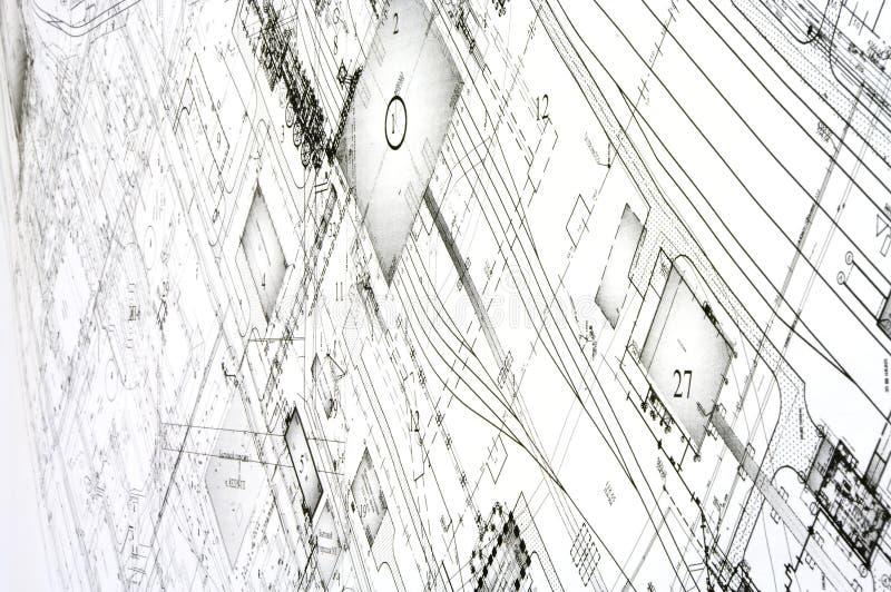 Desenhos do projeto e do projeto. fotografia de stock