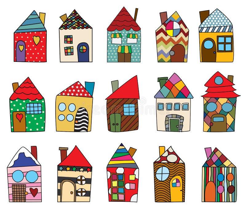 Desenhos infanteis da casa ilustração royalty free