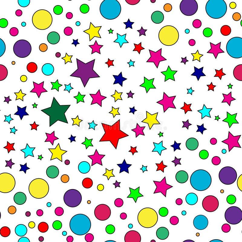 deseniowa bezszwowa gwiazda royalty ilustracja