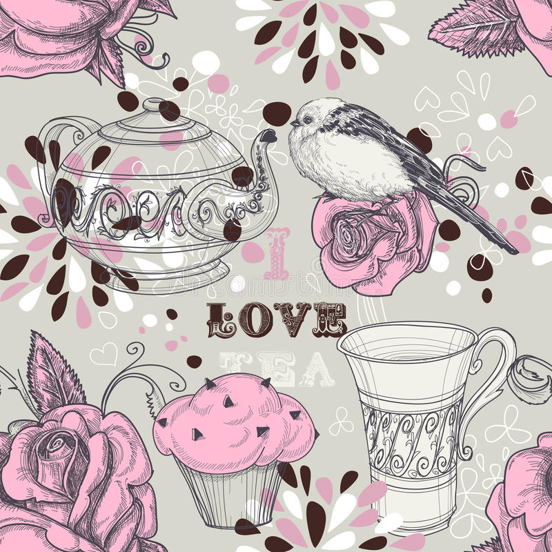 deseniowa bezszwowa herbata