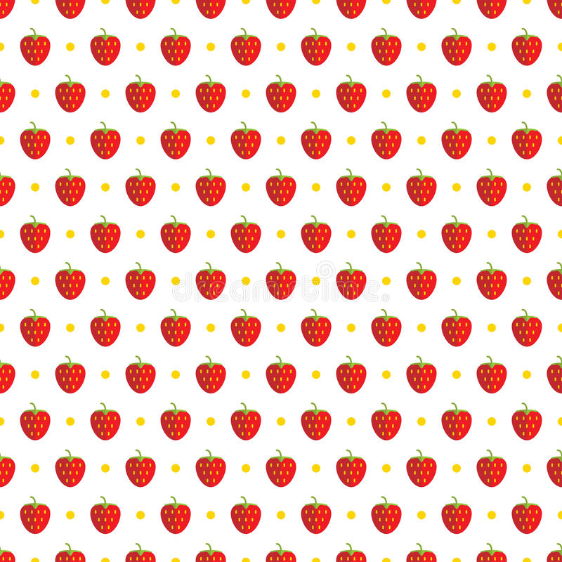 deseniowa bezszwowa truskawka royalty ilustracja