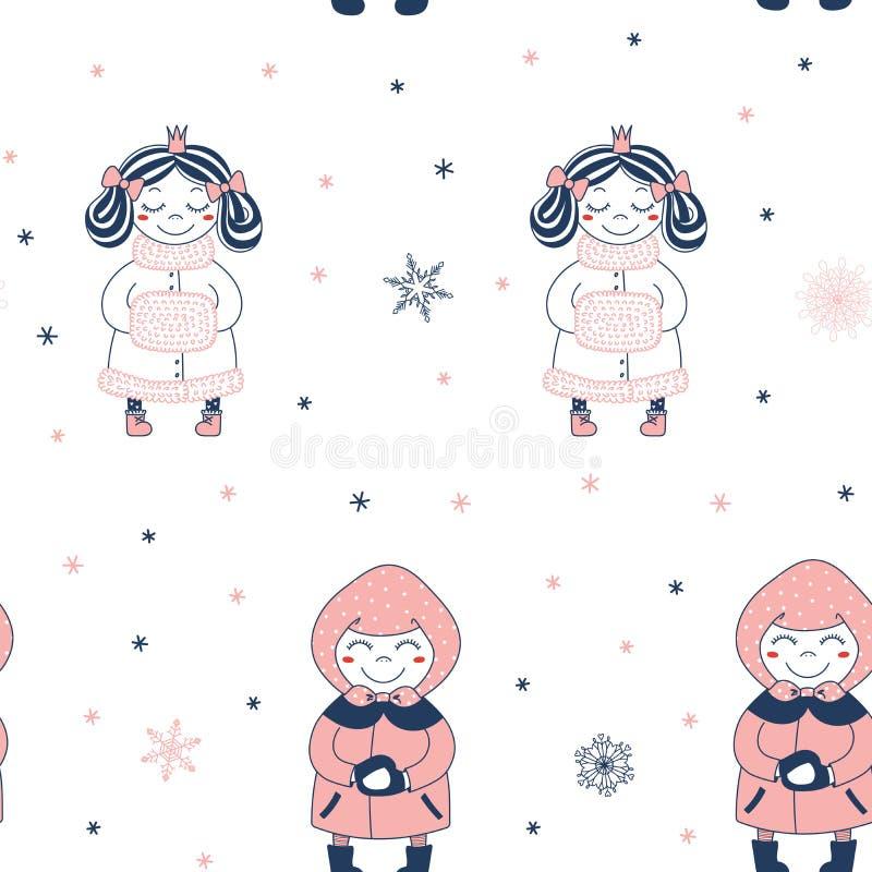 deseniowa bezszwowa zima ilustracji