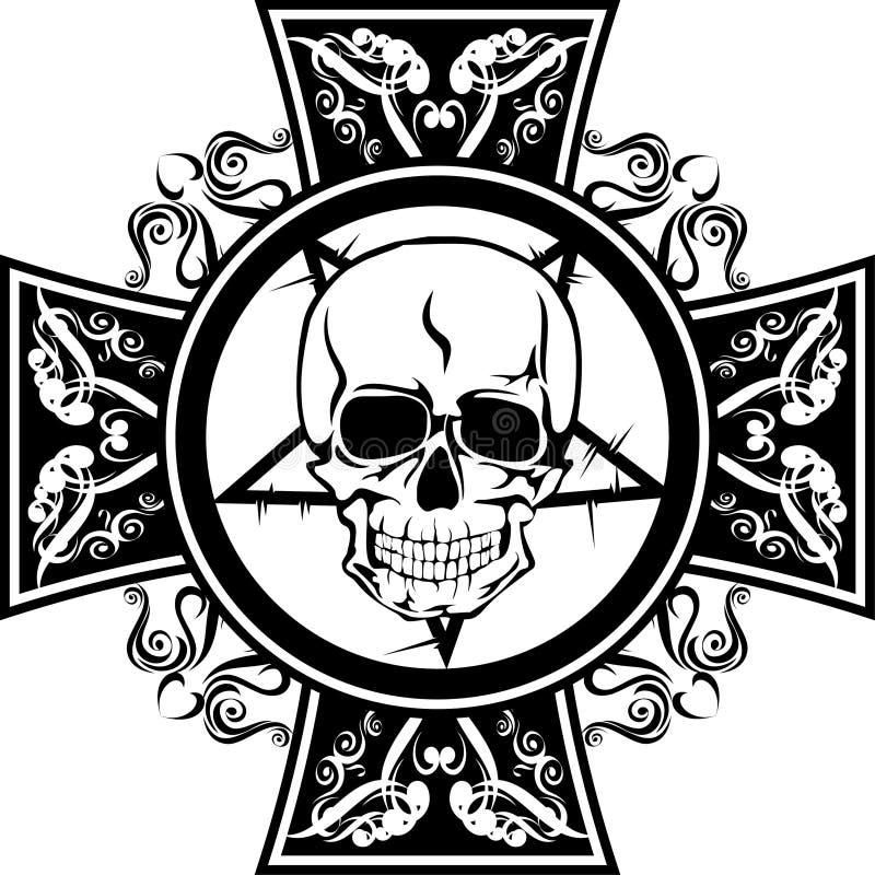 deseniowa czaszka royalty ilustracja