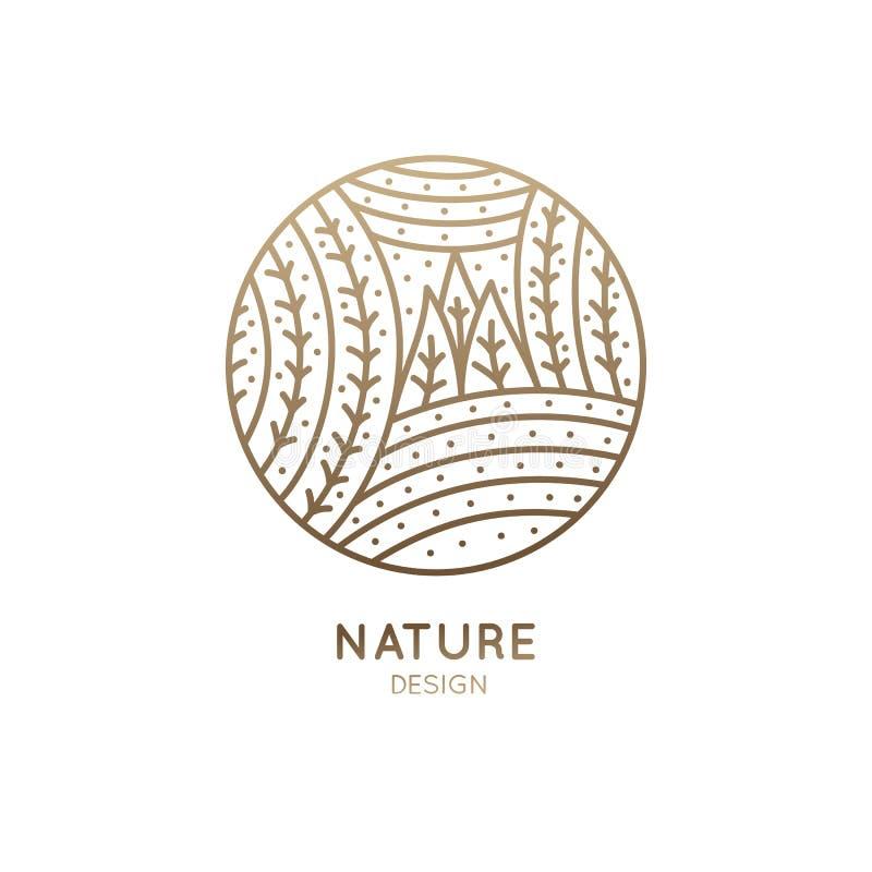 Deseniowa logo natura ilustracja wektor