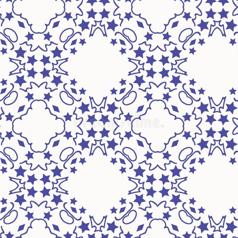 Deseniowe błękitne gwiazdy ilustracja wektor