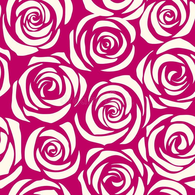 Deseniowe bezszwowe róże royalty ilustracja