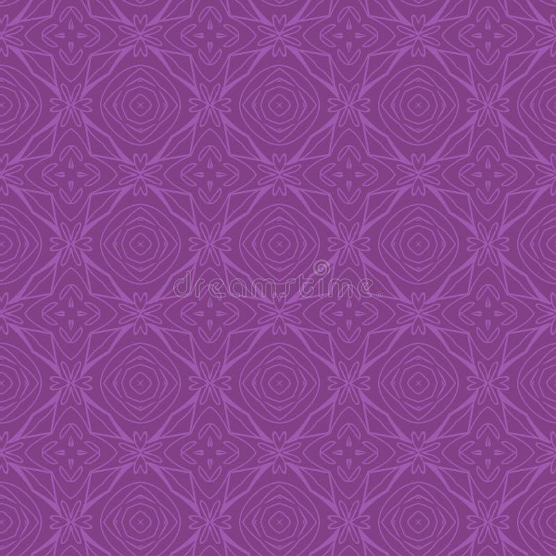 Deseniowe płytki rhombus i kwiatów purpury ilustracji