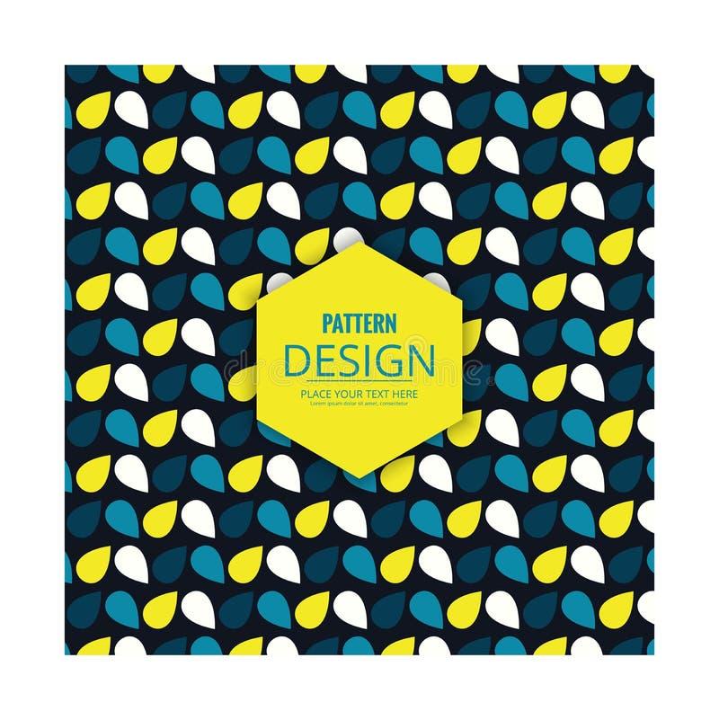 Deseniowi błękitni koloru żółtego i bielu koloru płatki ilustracja wektor