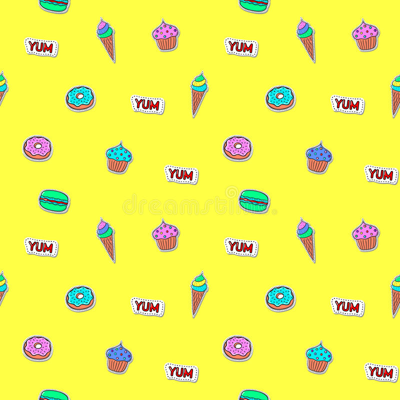 deseniowi bezszwowi cukierki ilustracja wektor