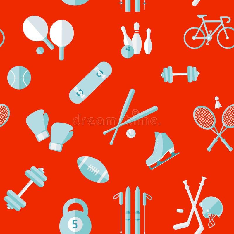 deseniowi bezszwowi sporty Sporta wyposażenia tło ilustracja wektor