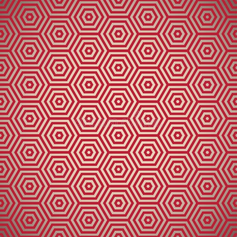 deseniowi czerwoni retro lata siedemdziesiąte ilustracja wektor