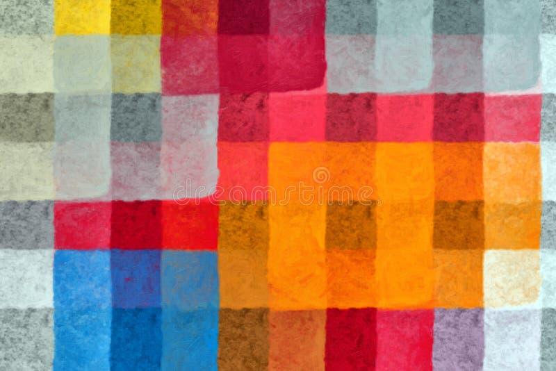 deseniowi farba kwadraty ilustracji