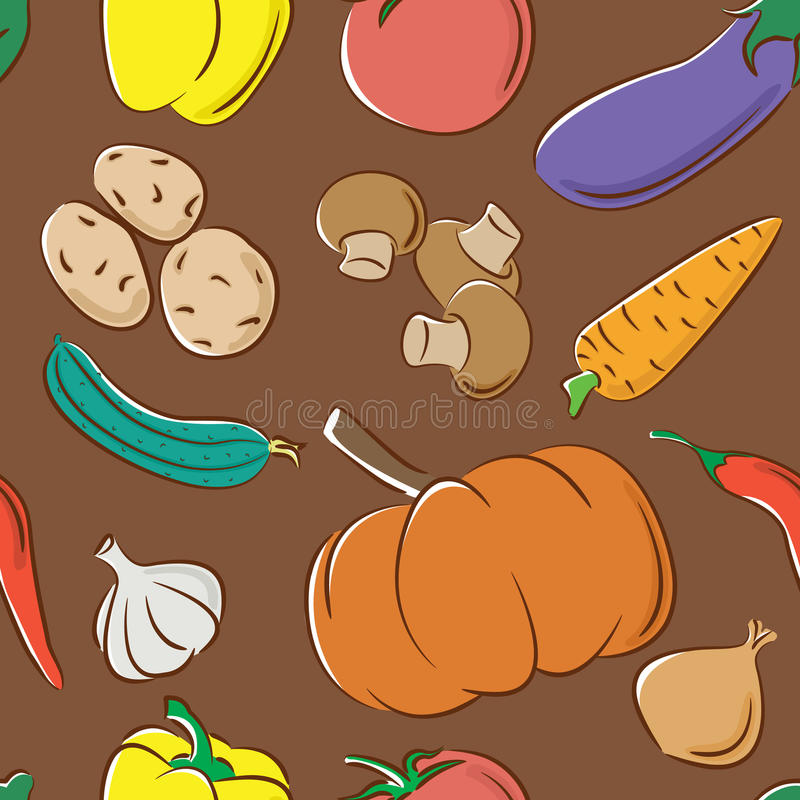 deseniowi kolorów warzywa ilustracja wektor