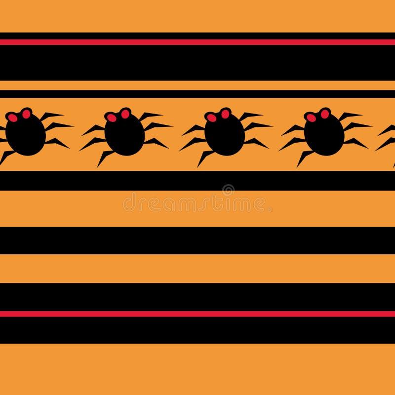 deseniowi pająków bezszwowi halloween. royalty ilustracja