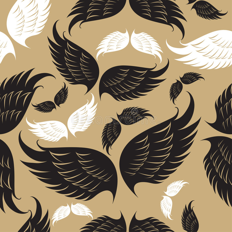 deseniowi skrzydła royalty ilustracja