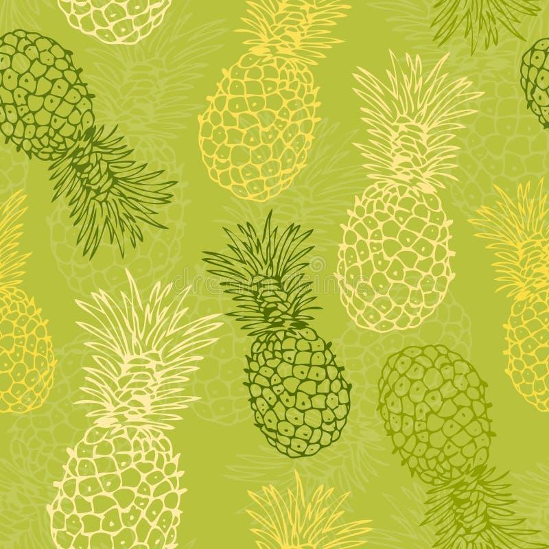deseniowy ananas ilustracji
