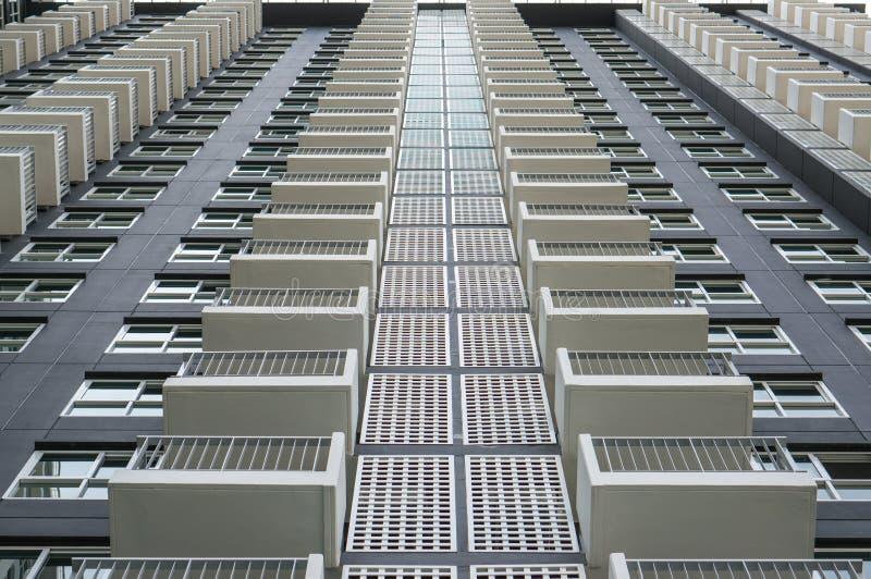 Deseniowy balkon budynek zdjęcie royalty free