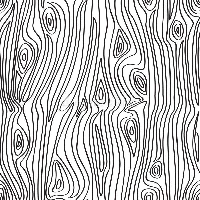 deseniowy bezszwowy drewno royalty ilustracja