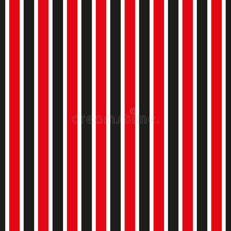 deseniowy bezszwowy lampas Czerwony i czarny pasiasty tło royalty ilustracja