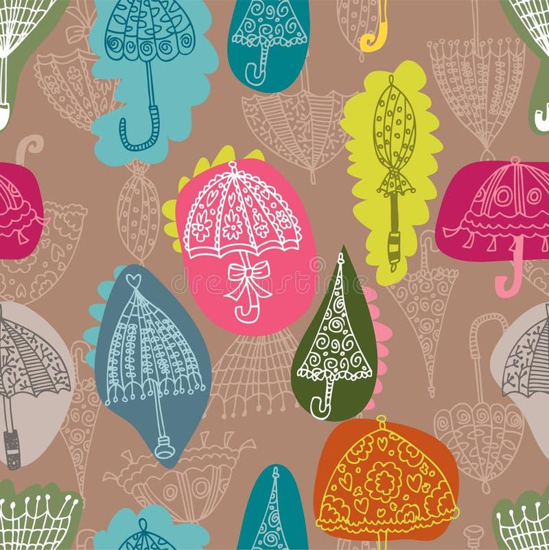 deseniowy bezszwowy parasol royalty ilustracja
