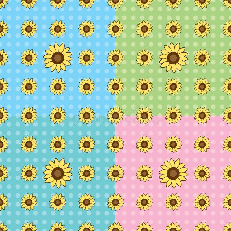 deseniowy bezszwowy słonecznik ilustracji