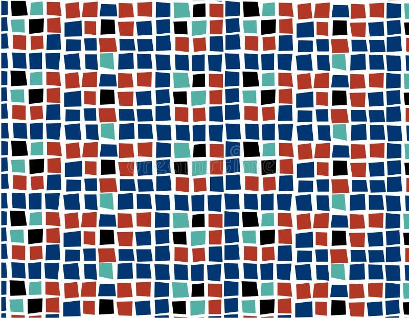 Deseniowy Bezszwowy tło tekstury kwadrata vecter zdjęcia stock