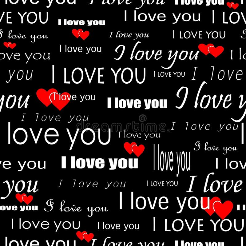 deseniowy bezszwowy valentine ilustracji