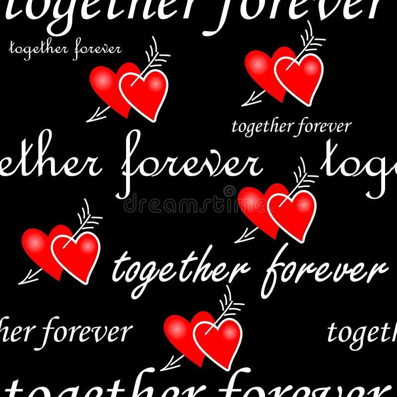 deseniowy bezszwowy valentine ilustracja wektor