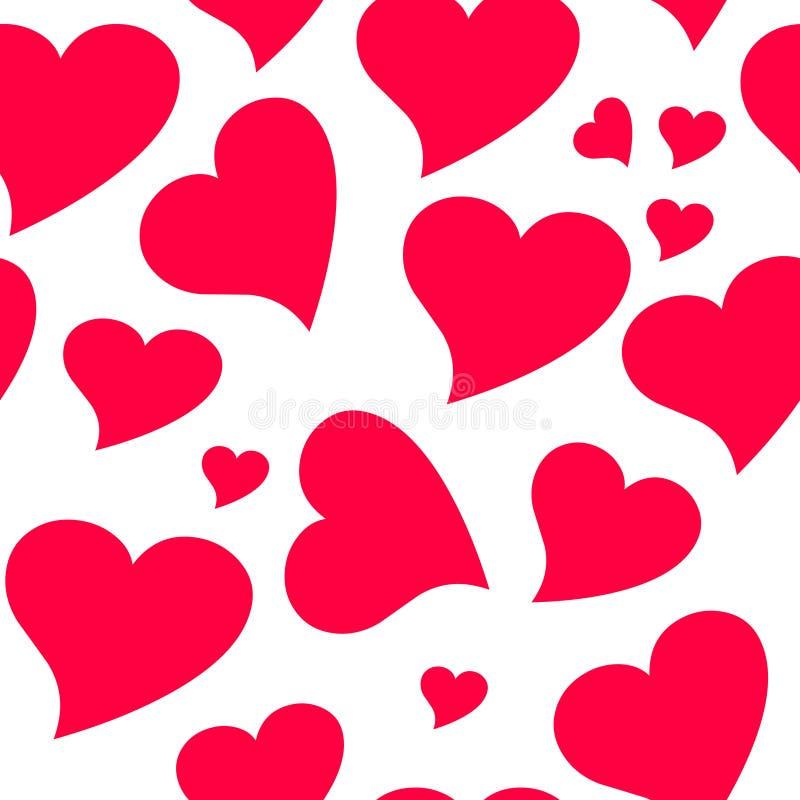 deseniowy bezszwowy valentine royalty ilustracja