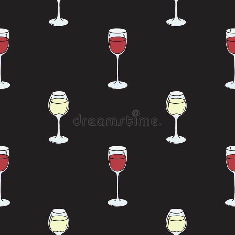 deseniowy bezszwowy wino ilustracji