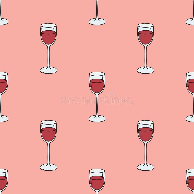 deseniowy bezszwowy wino royalty ilustracja