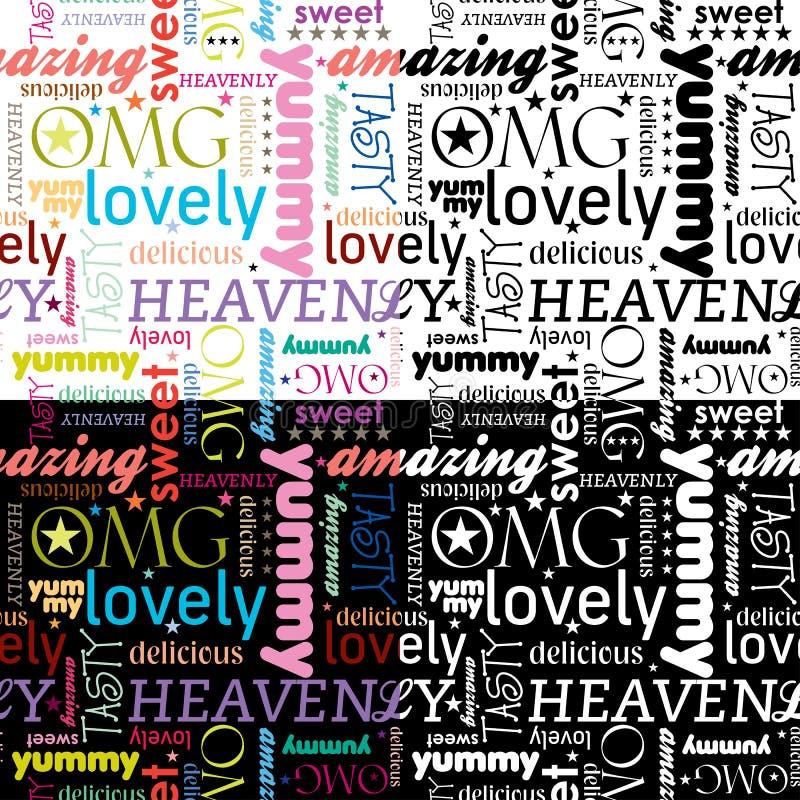 Download Deseniowy bezszwowy yummy ilustracja wektor. Obraz złożonej z arte - 20178310