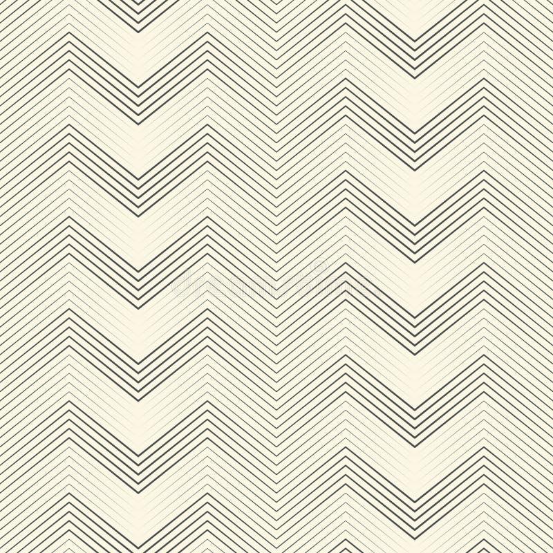 deseniowy bezszwowy zygzag Abstrakcjonistyczny Czarny I Biały lampas i Lin ilustracji