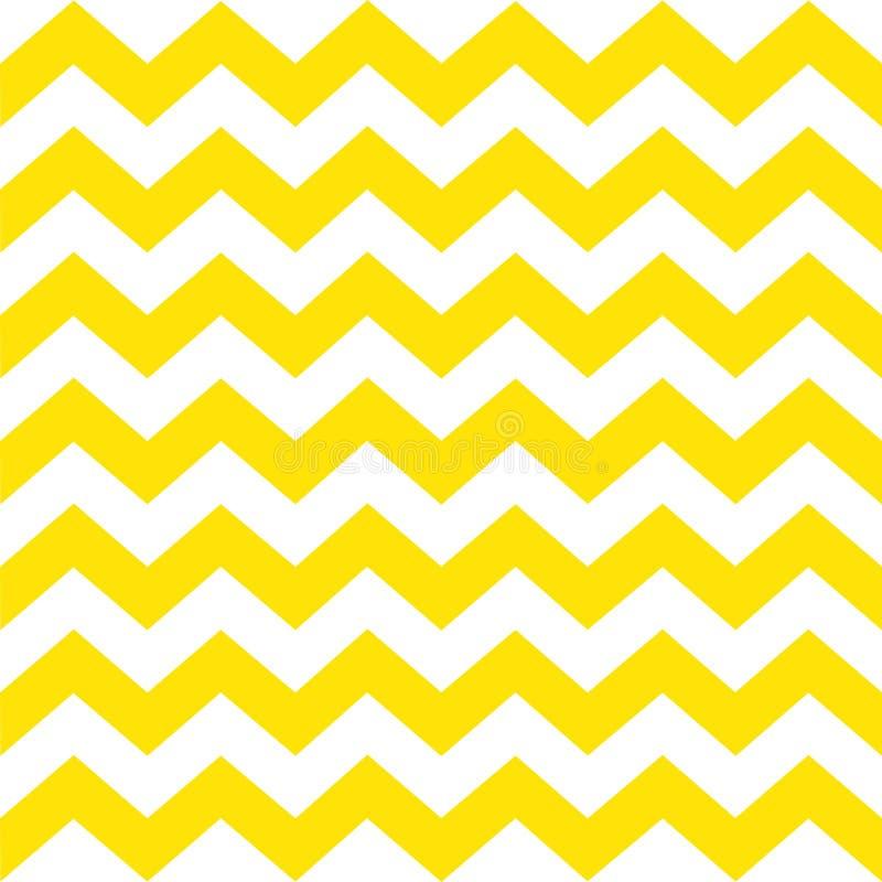 deseniowy bezszwowy zygzag Kolorów żółtych lampasy na białym tle Klasyczny tradycyjny geometryczny ornament royalty ilustracja