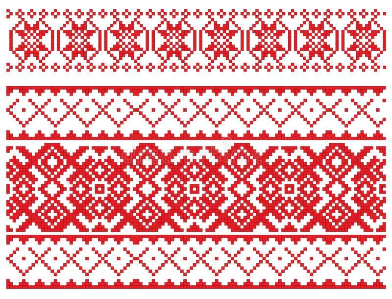 deseniowy broderia rosjanin ilustracji