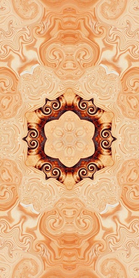 Deseniowy drewniany symetria abstrakta t?o geomorfologiczny ilustracja wektor