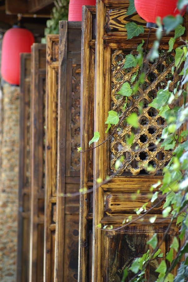 deseniowy drzwi drewno obraz stock