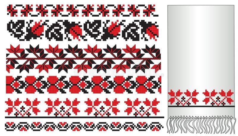 deseniowy embroder ukrainian ilustracja wektor