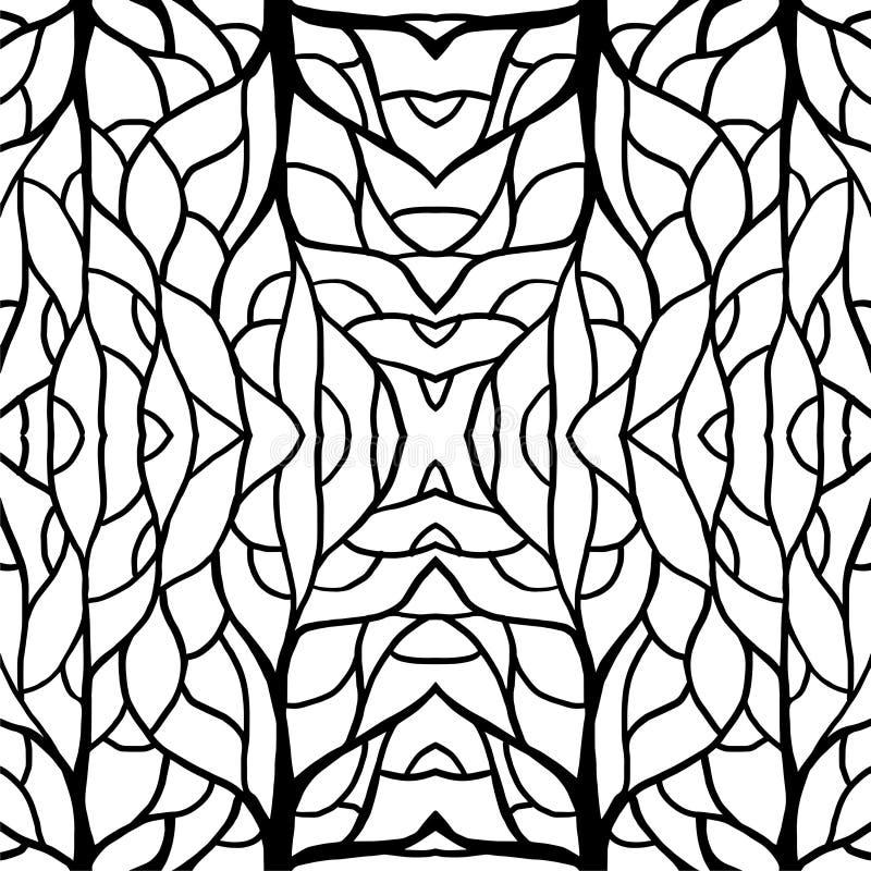 Deseniowy ilustracja korzenia centrum dla tkaniny i druk wysokiej mody ilustracja wektor