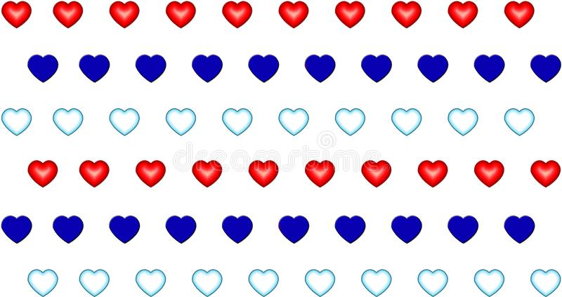 Deseniowy kierowy błękitnej czerwieni aqua symbol miłości valentine ilustracja wektor
