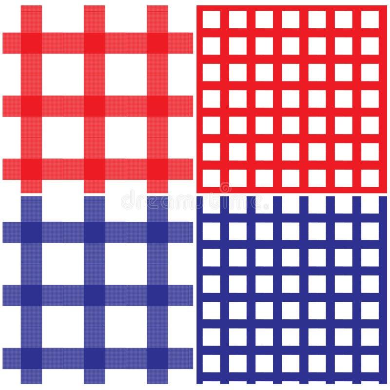 deseniowy pykniczny bezszwowy tablecloth royalty ilustracja