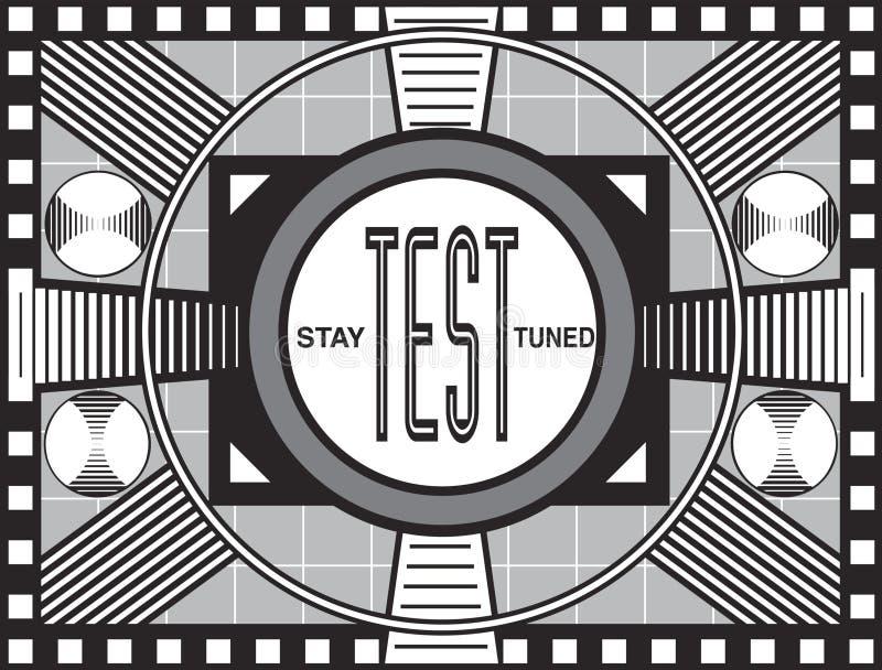deseniowy retro test tv royalty ilustracja