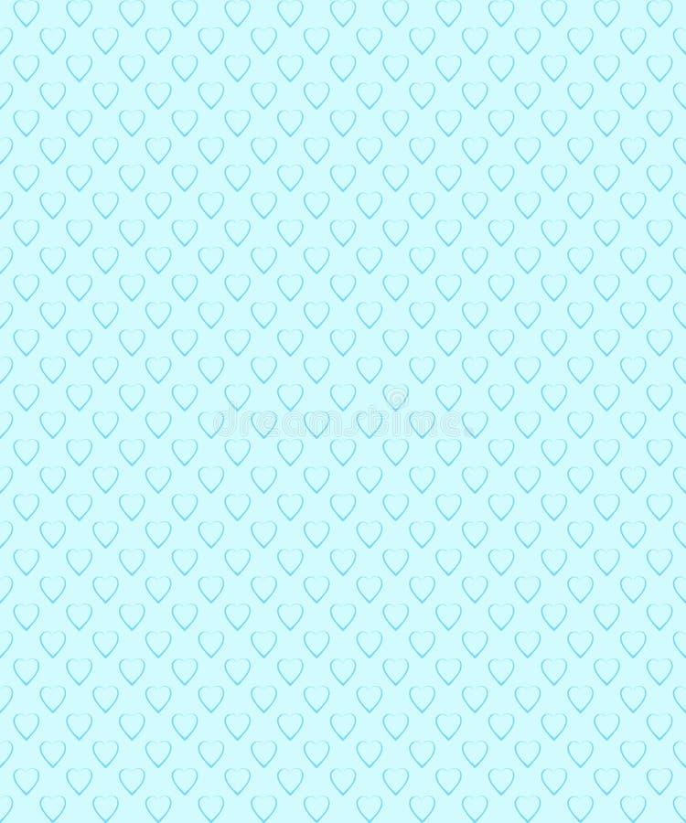 deseniowy romantyczny bezszwowy Wzór z kierowym kształtem ilustracja wektor