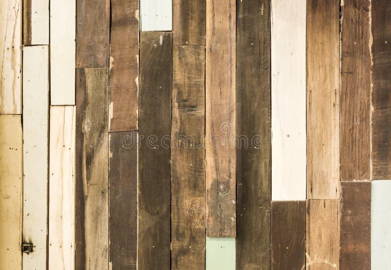 Deseniowy szczegół stara drewniana dekoracyjna ściana obrazy royalty free