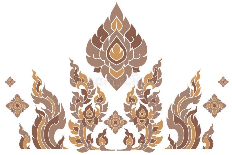 Deseniowy Tajlandia royalty ilustracja