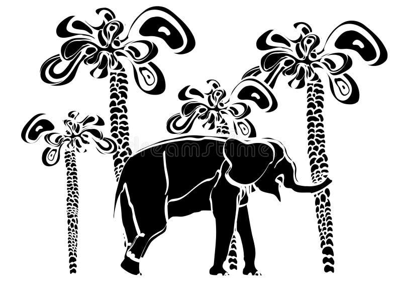 deseniowy tropikalny ilustracji