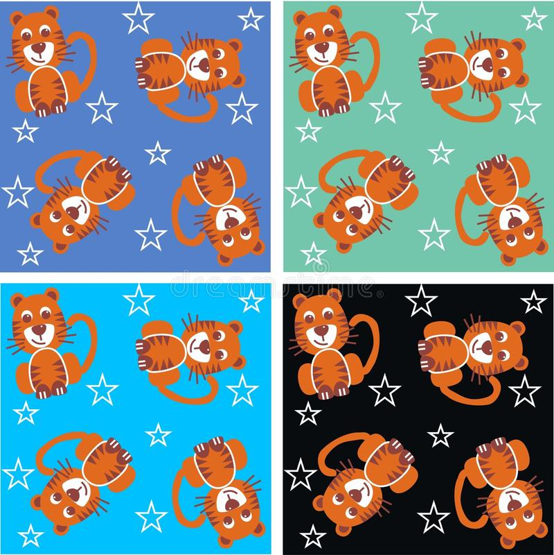deseniowy tygrys ilustracja wektor